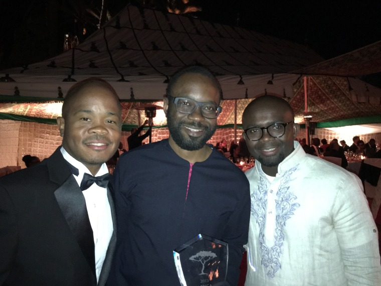 From left - Fred Swaniker, founder of African Leadership Network, Tayo Oviosu, founder & CEO Paga and Isaac Fokuo, CEO African Leadeship Network.